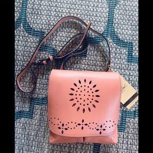 Patricia Nash Laser Cut Granada leather crossbody
